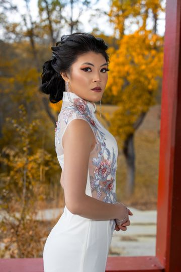 Morden Chinese Bridal look