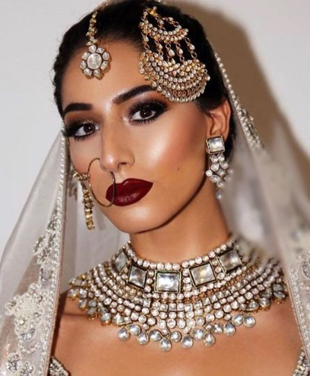 Bold makeup for cultural celebration