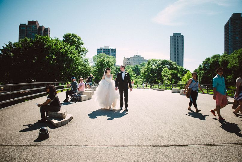 Classic Wedding in Lincoln Park, Chicago.