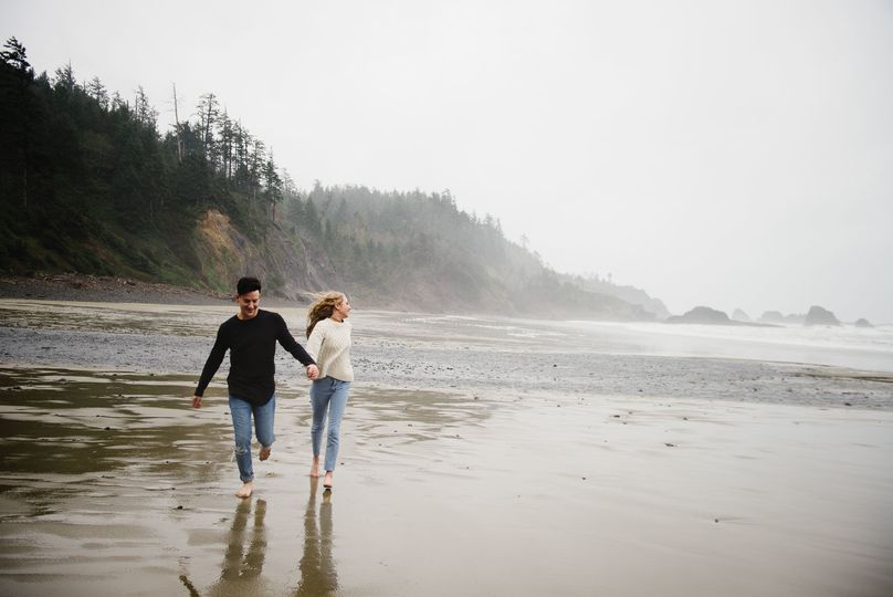 Engagement at Ecola State Park, Oregon.