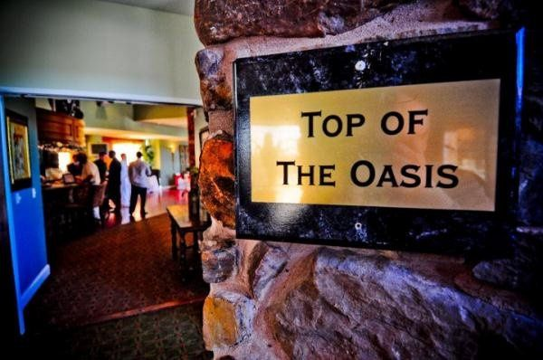 Guests have a private entrance to any event held within the Top of the Oasis.