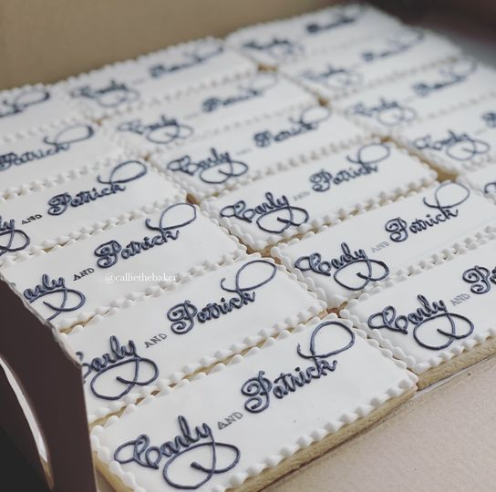 Custom Bride & Groom Cookies