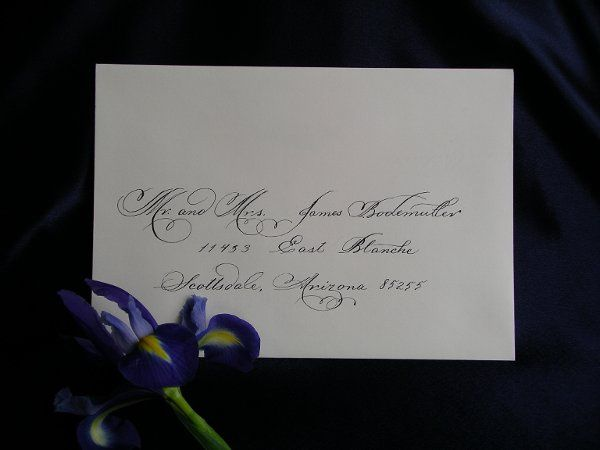 A very decorative outer envelope