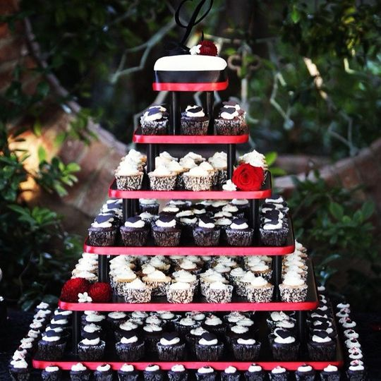 Cupcake tower for LePage Wedding
