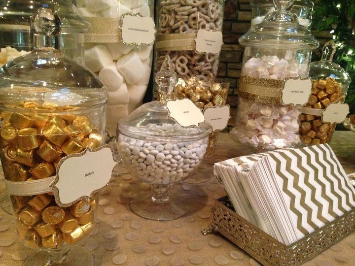 Gold and White dessert buffet at North Ranch Country Club