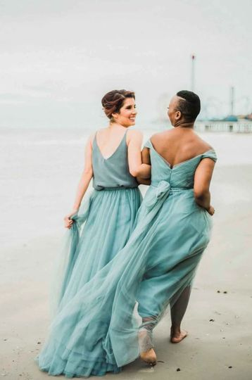Galveston Beach Bridesmaids