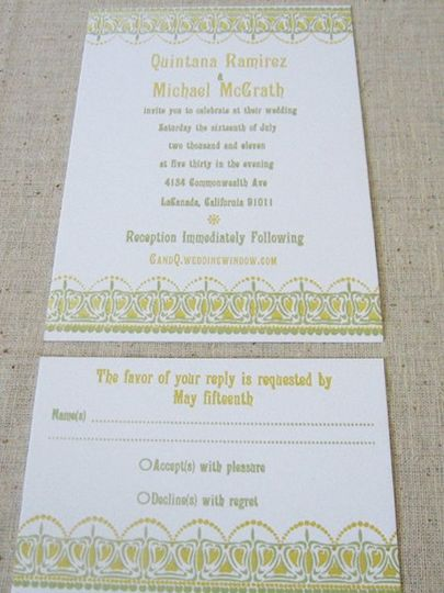 invitation and reply card