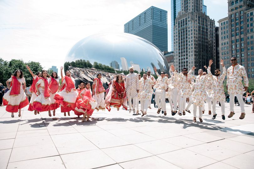 Chicago Bean bridal party