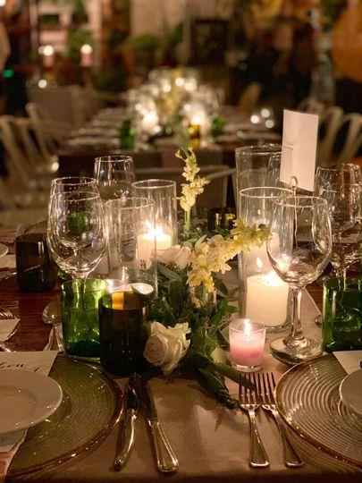Romantic table decor