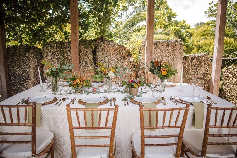 Fall wedding table decor