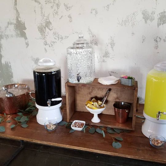 Refreshments section
