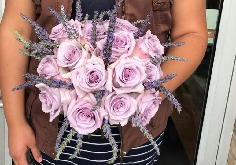 Sweet lavender bridal bouquet