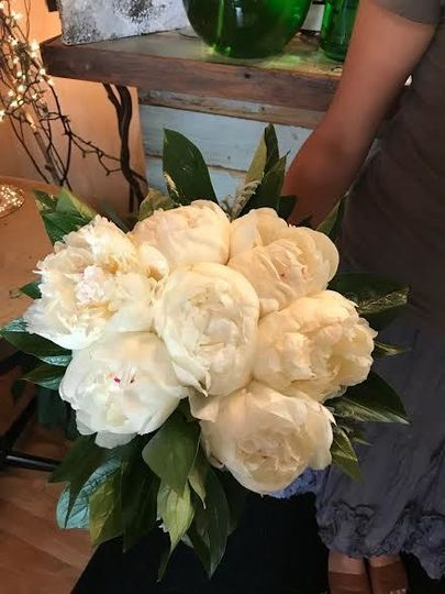 Lovely in White Bridal Bouquet