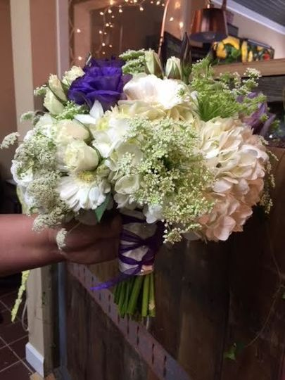 Lisianthus bridal bouquet