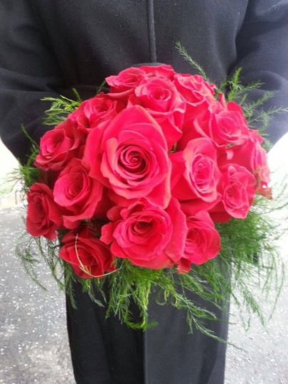 Be my valentine bridal bouquet