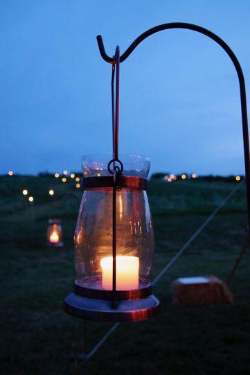 Orchard wedding lanterns