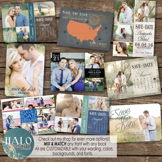 save the date front samples