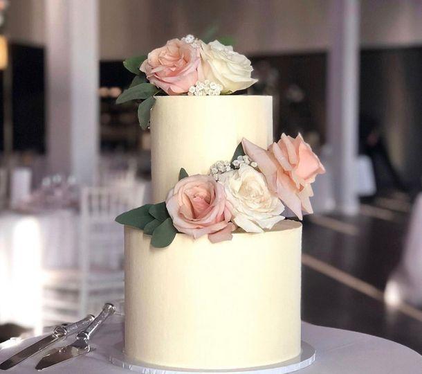 Simple elegant design with floral