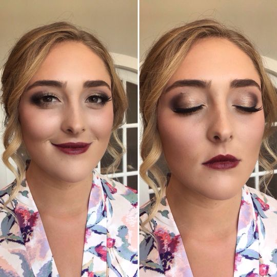 Accent on the eye makeup