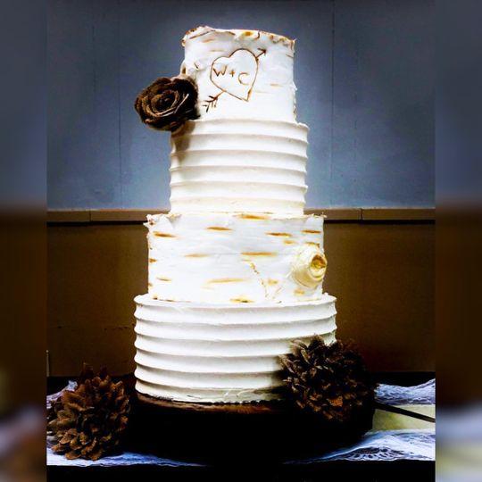 Buttercream and fondant woodland cake