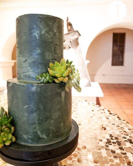 Concrete groom's cake