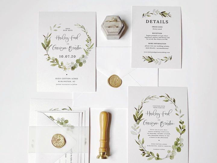 Tmx Fb21a2c0 3d8e 46b1 A414 21c66c76e4a4 51 1981321 160079142623591 Holly Springs, NC wedding invitation