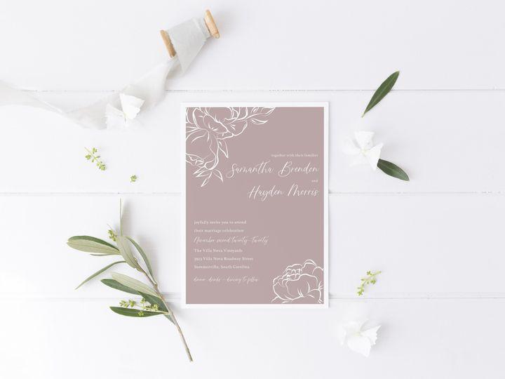 Tmx Invitations Prettyinpurplepeonies 51 1981321 159846937888528 Holly Springs, NC wedding invitation