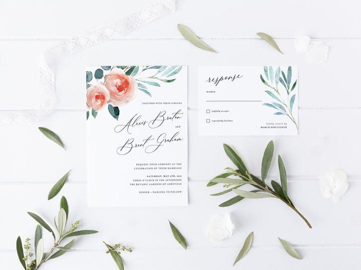 Tmx Sweepingrose Invite Rsvpcard 51 1981321 159846935335983 Holly Springs, NC wedding invitation