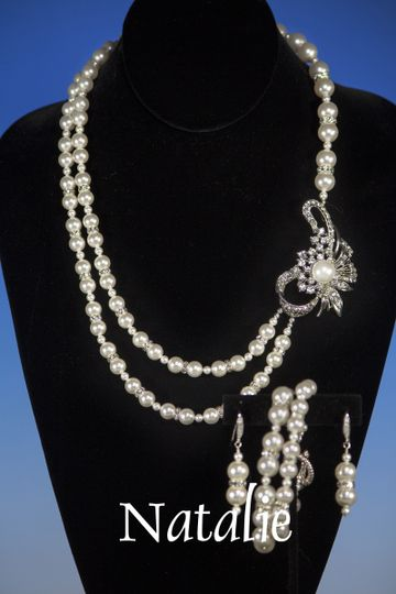 why not call it yours today?  The necklace measures 17 inches at it shortest strand and 24 inches...