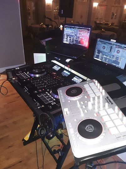 DJ equipment setup