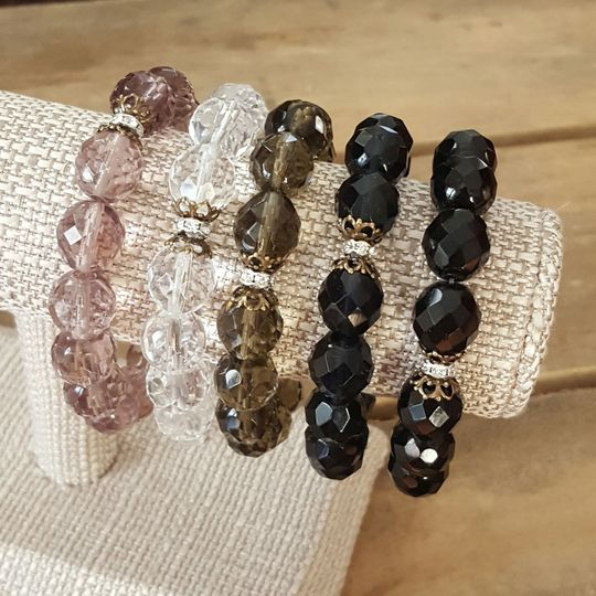 Crystal and vintage brass details Protection Bracelets | can be made to coordinate with your bridal...