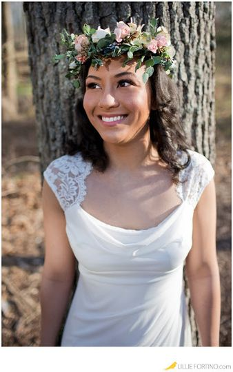Flower headband for the bride