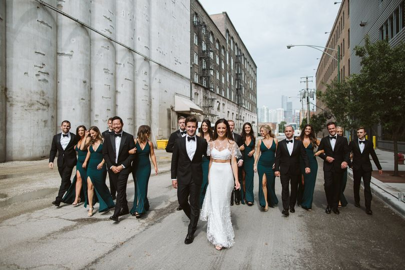 Couple with members of their wedding party - Rebecca Peplinski Photography