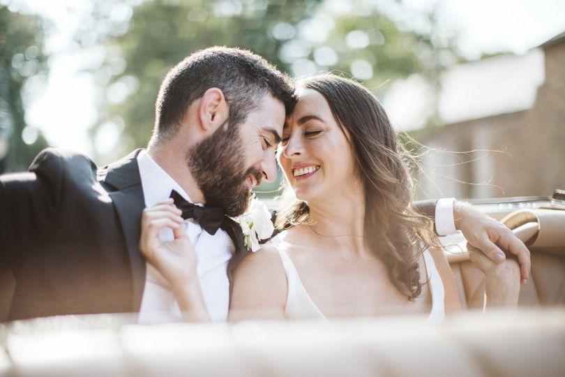 Couple seated together - Rebecca Peplinski Photography