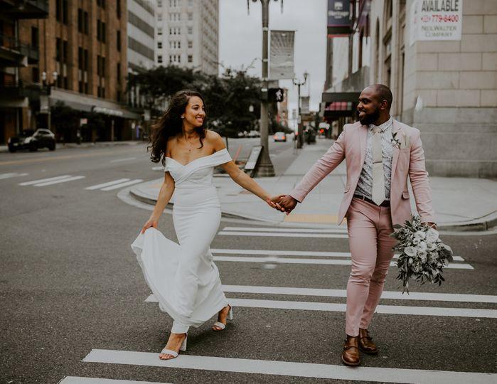 Interracial wedding In The City