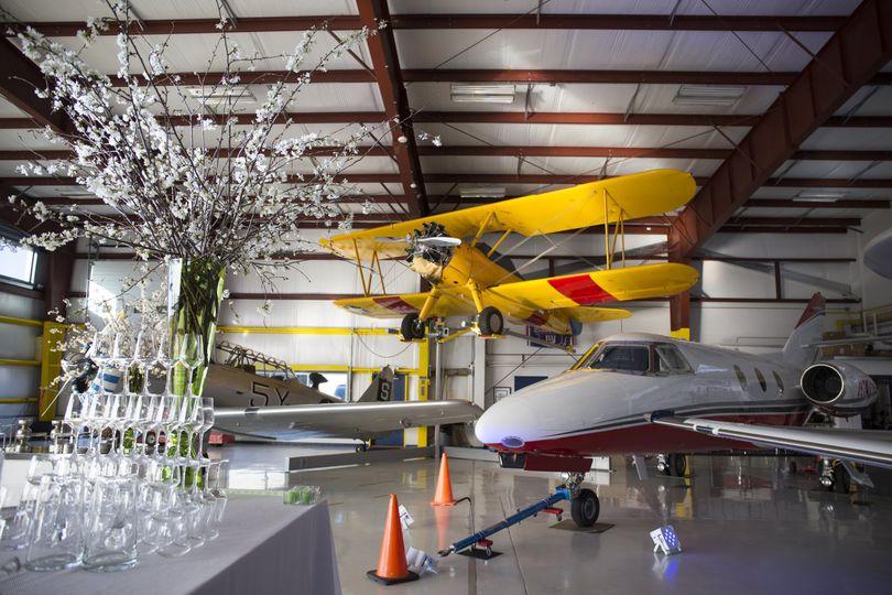 Event venue at the hangar