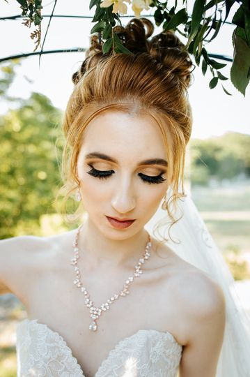 Ethereal bridal look