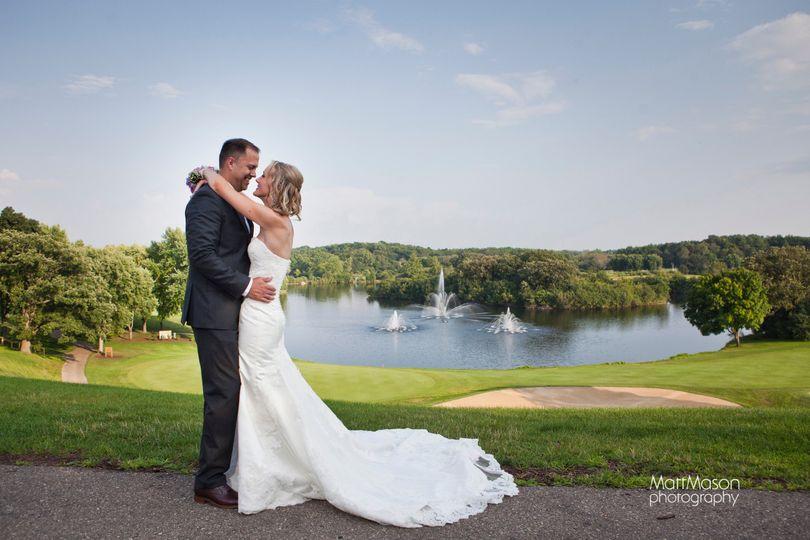 Sweet photo of bride and groom