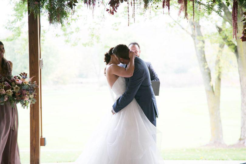 Magical couple's kiss