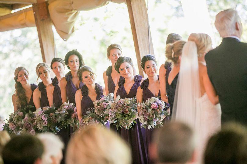 Bridesmaid during the wedding ceremony