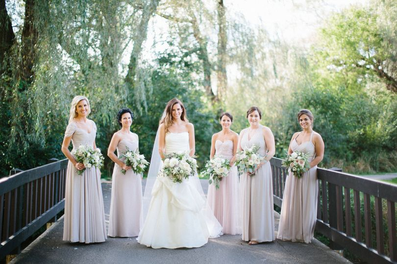 Stunning bride with her gorgeous bridesmaid