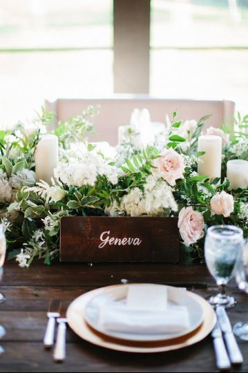 Floral and candles centerpiece