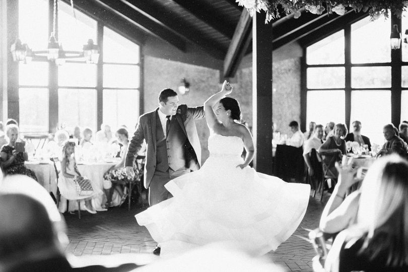 Couple's traditional dance