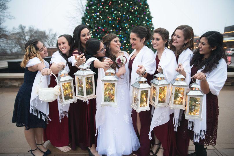 Holiday Bridesmaid Photo