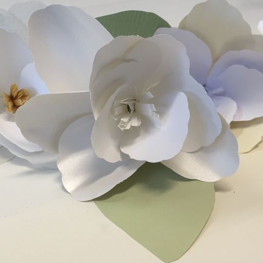 Hand crafted paper flowers will last forever