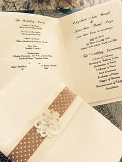 Uniquely designed program for the wedding ceremonny