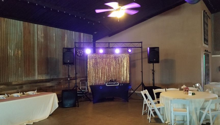 Set up and ready to pack the dancefloor