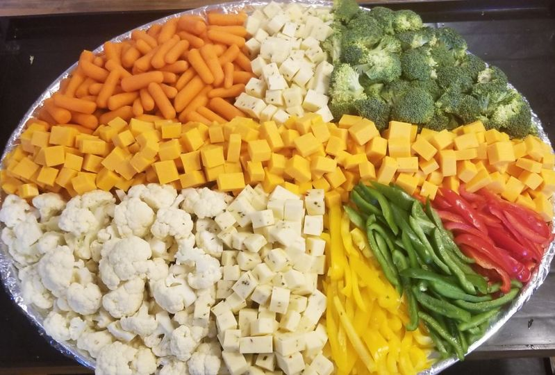 Vegetable and cheese display