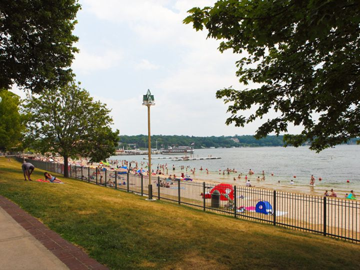 Tmx 1430775412307 The Lake Geneva Beach Is Always A Relaxing Place T Lake Geneva wedding venue