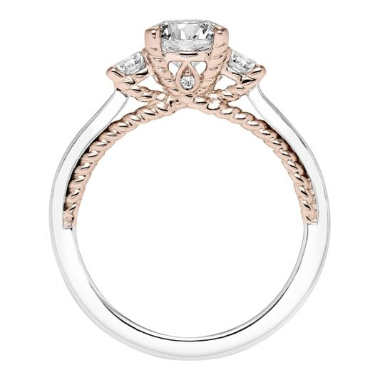 Diamond engagement ring rose gold